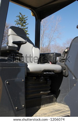 Bulldozer Interior - stock photo