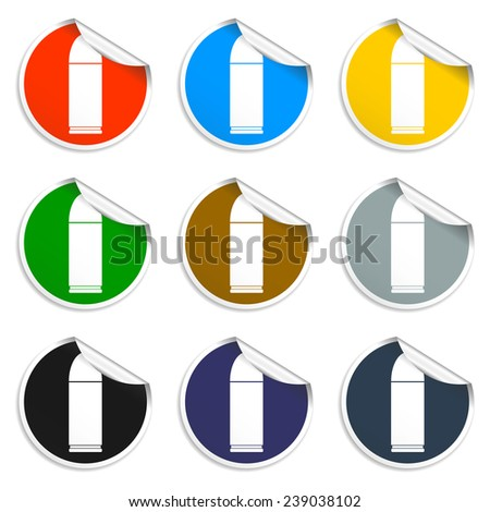 bullet icon, isolated, black on the white background.  - stock photo
