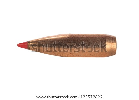 bullet isolated on white - stock photo