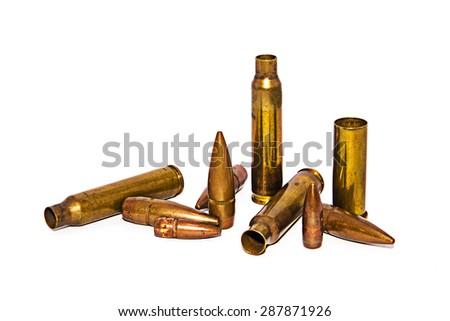 bullet isolated on white background - stock photo