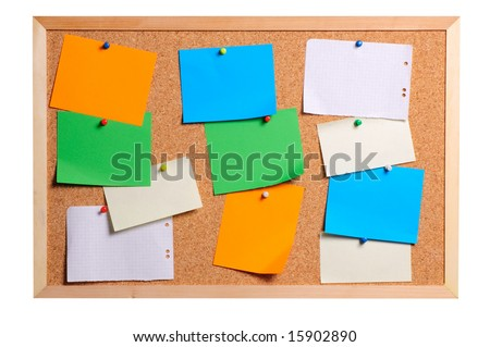 Bulletin board - stock photo