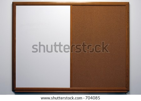 bulletin board - stock photo