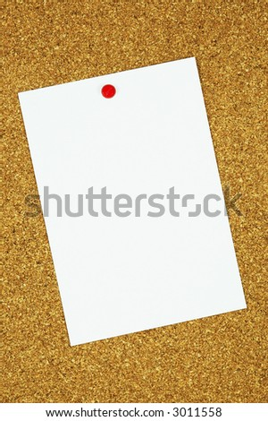 Bulletin Board message.  Copyspace for text or images for the designer.