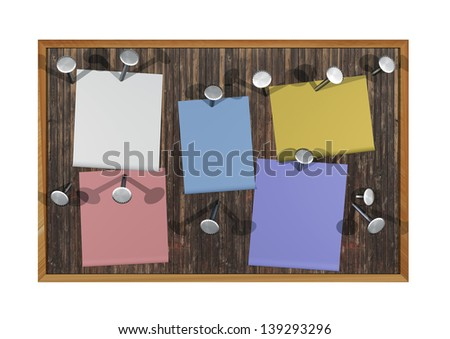 bulletin board posts - stock photo