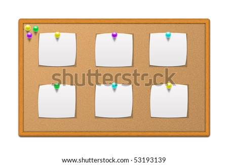 Bulletin board with stationery
