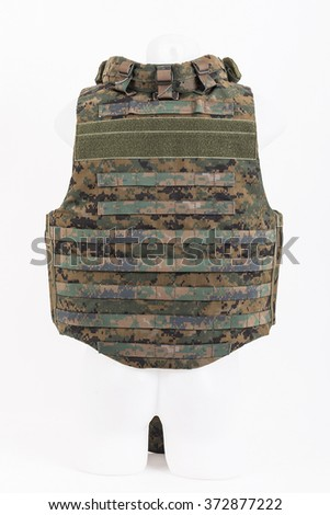 Bulletproof vest, body armor covers, Camouflage - stock photo