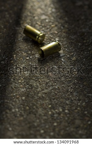 Bullets on ground
