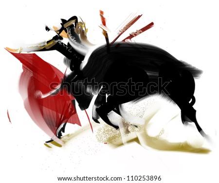 Bullfight - stock photo