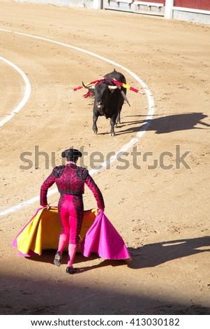 Bullfighting in Madrid - stock photo