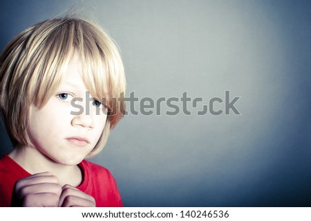 Bullied child - stock photo