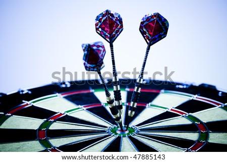 Bullseye,conceptual,success - stock photo