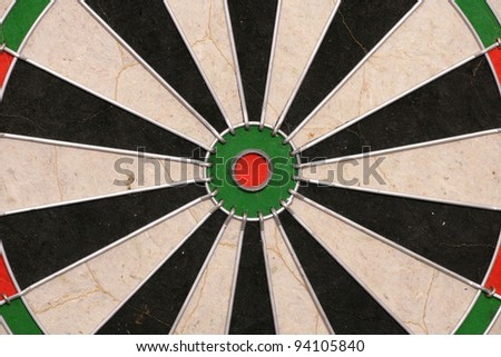 Bullseye of dartboard abstract background