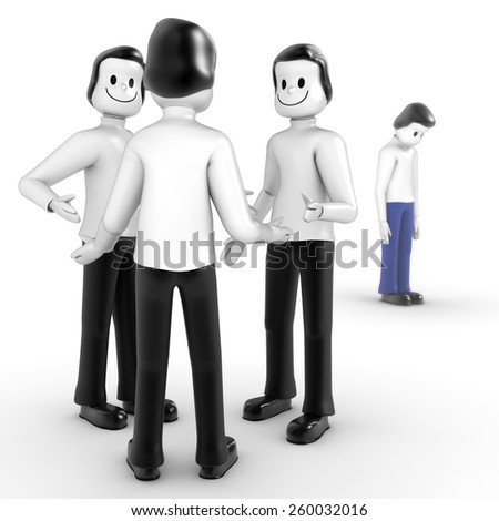 Bullying in the workplace - stock photo