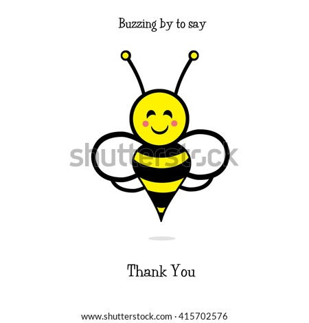 Bumble Bee - Thank You - stock photo