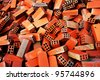 Bunch of bricks for construction - stock photo