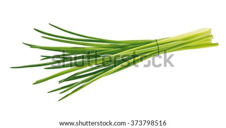 bunch of chive isolated - stock photo
