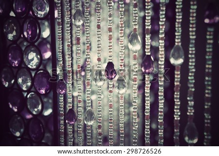 bunch of diamond style luxury crystal balls with vintage tone - stock photo