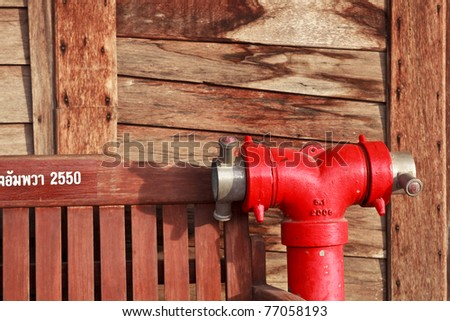 bunch of fire hoses on a firetruck use by firemen. - stock photo
