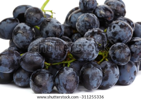 Bunch of grapes macro photo - stock photo