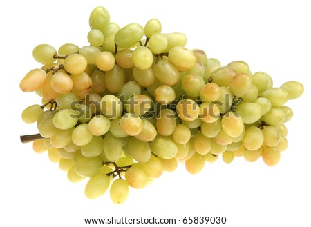 bunch of grapes on a white background, isolated