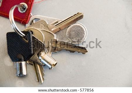 Bunch of keys - stock photo