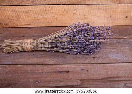 bunch of lavender on wooden background