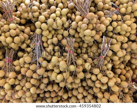 Bunch of Longan on the market place