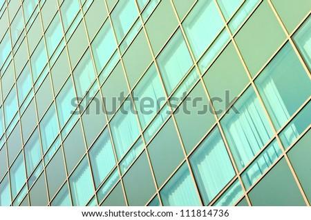 Bunch of modern blue windows - stock photo
