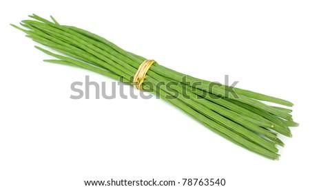 Bunch of Moringa Oleifera or sonjna over white background - stock photo