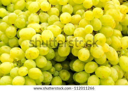 Bunch of the white grapes - stock photo