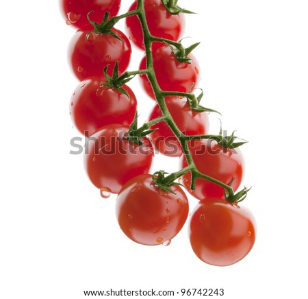 bunch of tomato cherry. down