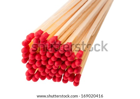 bunch of unused matches - stock photo