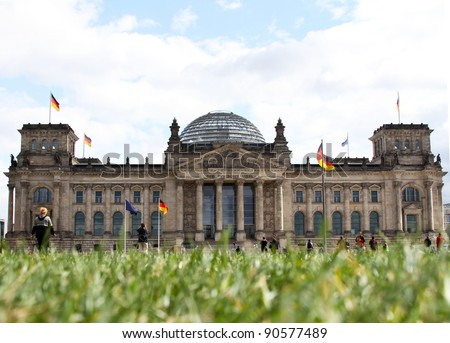 Bundestag in Berlin - stock photo