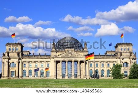 Bundestag (Reichstag) in Berlin, Germany - stock photo