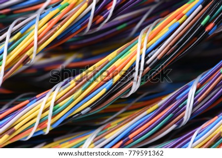 Bundle Electrical Colorful Cables Wires Stock Photo (Royalty Free ...