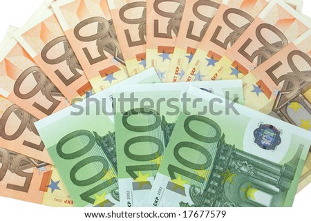Bundle of 50 and 100 Euro