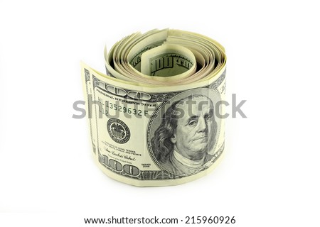 Bundle of dollars - stock photo