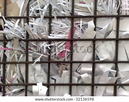 Bundle of paper for recycling in the cage box
