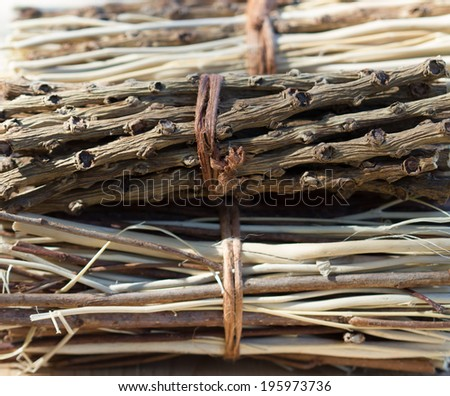 bundle of twigs background