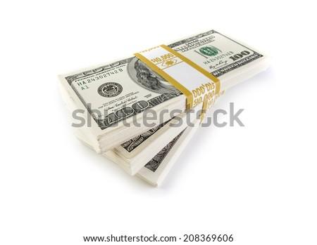 Bundles of money - stock photo
