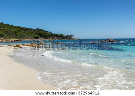 Bunker Bay on Geographe Bay  - stock photo
