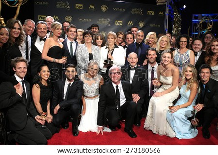 BURBANK - APR 26: The Young and the Restless at the 42nd Daytime Emmy Awards Gala at Warner Bros. Studio on April 26, 2015 in Burbank, California - stock photo