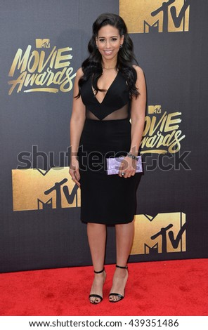 BURBANK, CA. April 9, 2016: MTV celebrity Nessa at the 2016 MTV Movie Awards at Warner Bros Studios.