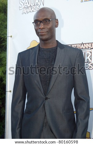 BURBANK, CA - JUNE 23: Lance Reddick arrives at the 37th annual Saturn awards on June 23, 2011 at The Castaways restaurant in Burbank, CA