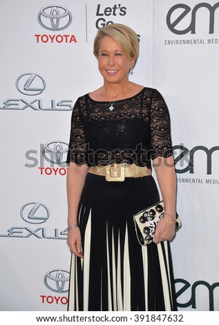 BURBANK, CA - OCTOBER 24, 2015: Simpson's voice actress Yeardley Smith at the 25th Annual Environmental Media Awards at Warner Bros. Studios, Burbank - stock photo