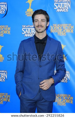 BURBANK - JUN 25: Grant Gustin at the 41st Annual Saturn Awards at The Castaway on June 25, 2015 in Burbank, California, - stock photo