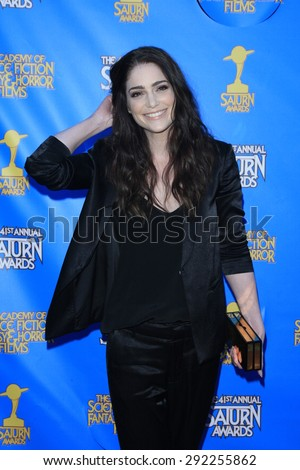 BURBANK - JUN 25: Janet Montgomery at the 41st Annual Saturn Awards at The Castaway on June 25, 2015 in Burbank, California, - stock photo