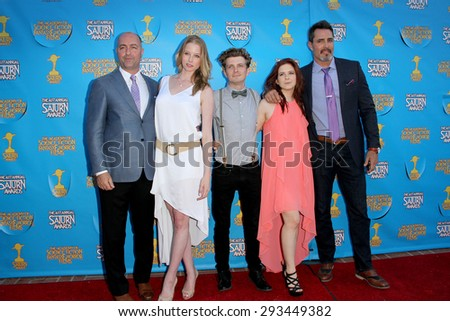 "BURBANK - JUNE 25: The cast of Continum"" arrives at the 41st Annual Saturn Awards on Thursday, June 25, 2015 at the Castaway Restaurant in Burbank, CA."