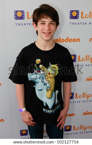 BURBANK - MAY 7: Zachary Gordon attends Lollipop Theater Network 3rd Annual Game Day at Nickelodeon Animation Studios , May 7, 2011 in Burbank, CA - stock photo