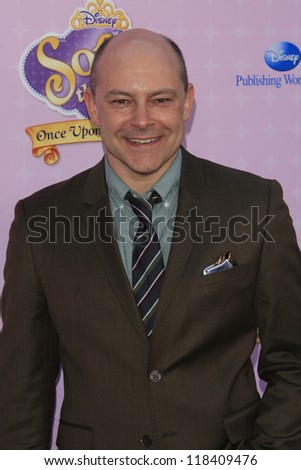 BURBANK - NOV 10: Rob Corddry at the premiere of Disney Channels' 'Sofia The First: Once Upon a Princess' at Walt Disney Studios on November 10, 2012 in Burbank, California